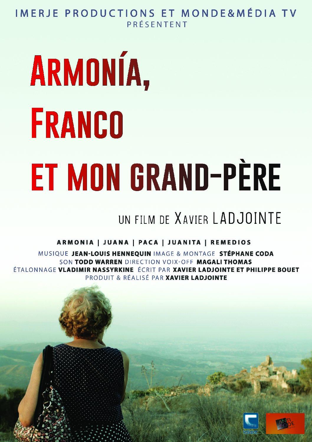 Projection / débat ARMONIA, FRANCO ET MON GRAND-PÈRE en présence du réalisateur Xavier Ladjointe