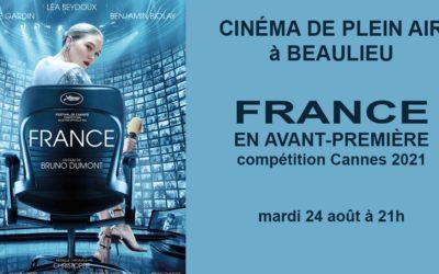 FRANCE en avant-première et en plein air à Beaulieu